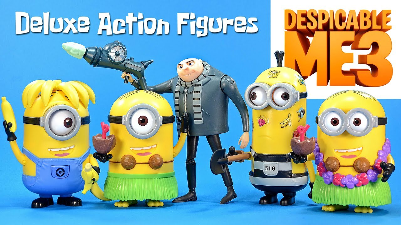 Despicable Me 3 Deluxe Action Figures w/ Gru Minion Tim ...