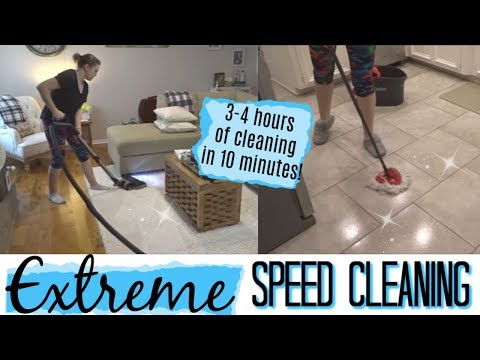 EXTREME SPEED CLEANING | WHOLE HOUSE CLEAN WITH ME | MANDY IN THE MAKING