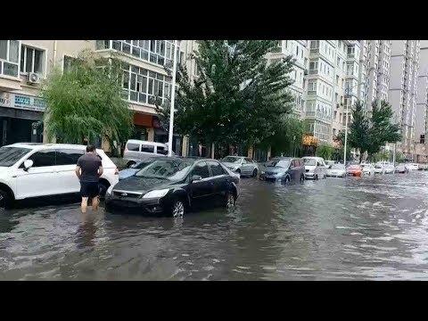 Heavy rain causes waterlogging in NE China's Heilongjiang Province
