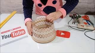 اكيد تتسألون كيف صنعت هذه السلة وماذا استخدمت لصناعتها اكتشفوا في الفيديو