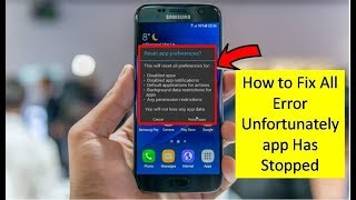 How To Fix Unfortunately App Has Stopped 100 Solution