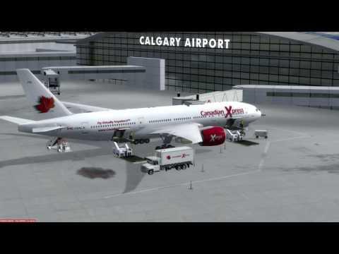 P3D v3.3 Boeing 777-200LR Calgary (CYYC) to Montréal (CYUL)