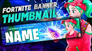 Free Fortnite Banner Template | Speedart Youtube Banner [2020]