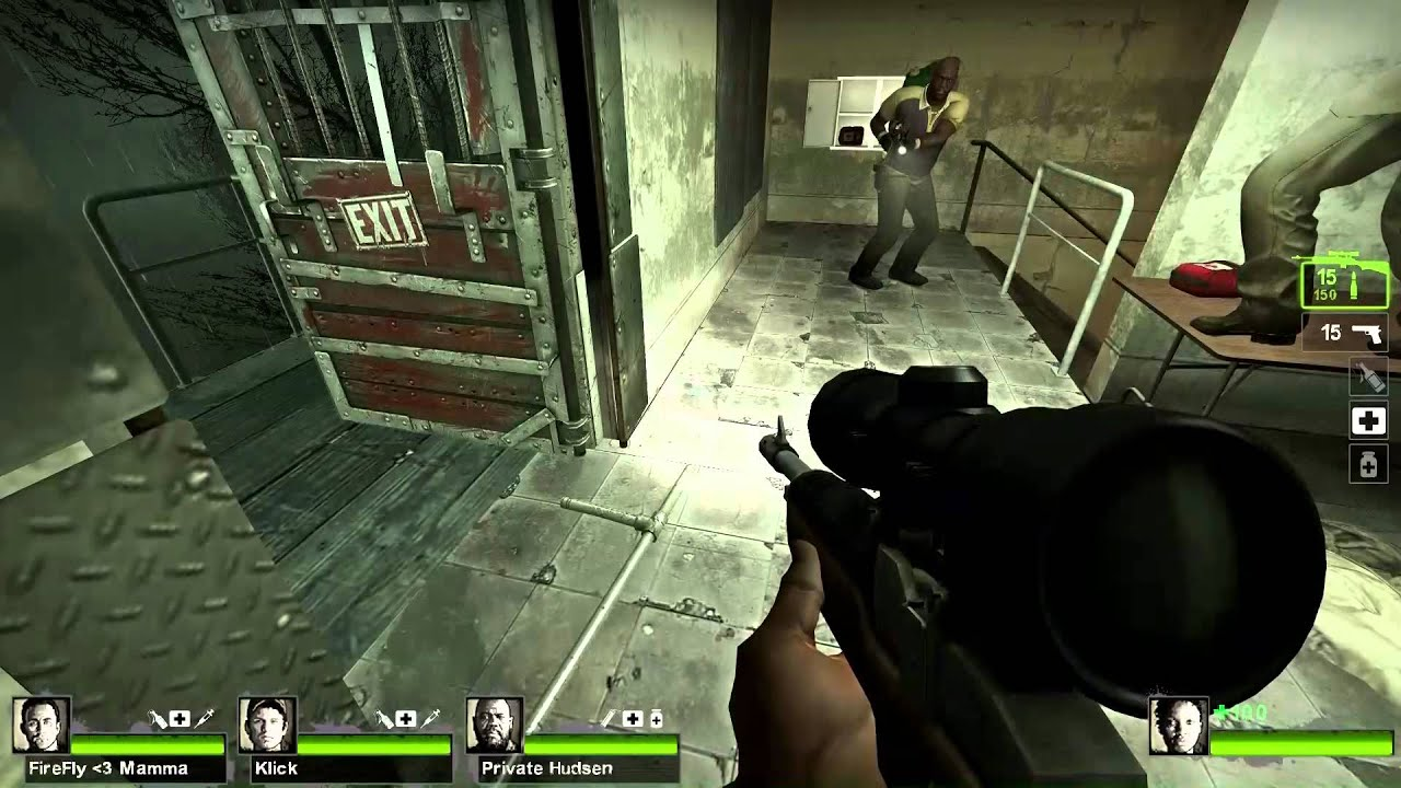 Left 4 Dead 2 versus match #5 with TeamSpeak