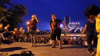 Уличные музыканты в центре Одессы, 28.07.2017