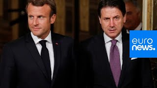 MIGRANTS |Emmanuel Macron and Giuseppe Conte talk migration policy in Rome
