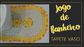 Jogo de banheiro amarelo – Tapete do vaso por Diane Gonçalves