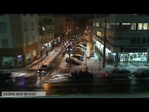 Abendstimmung im winterlichen Frankfurt