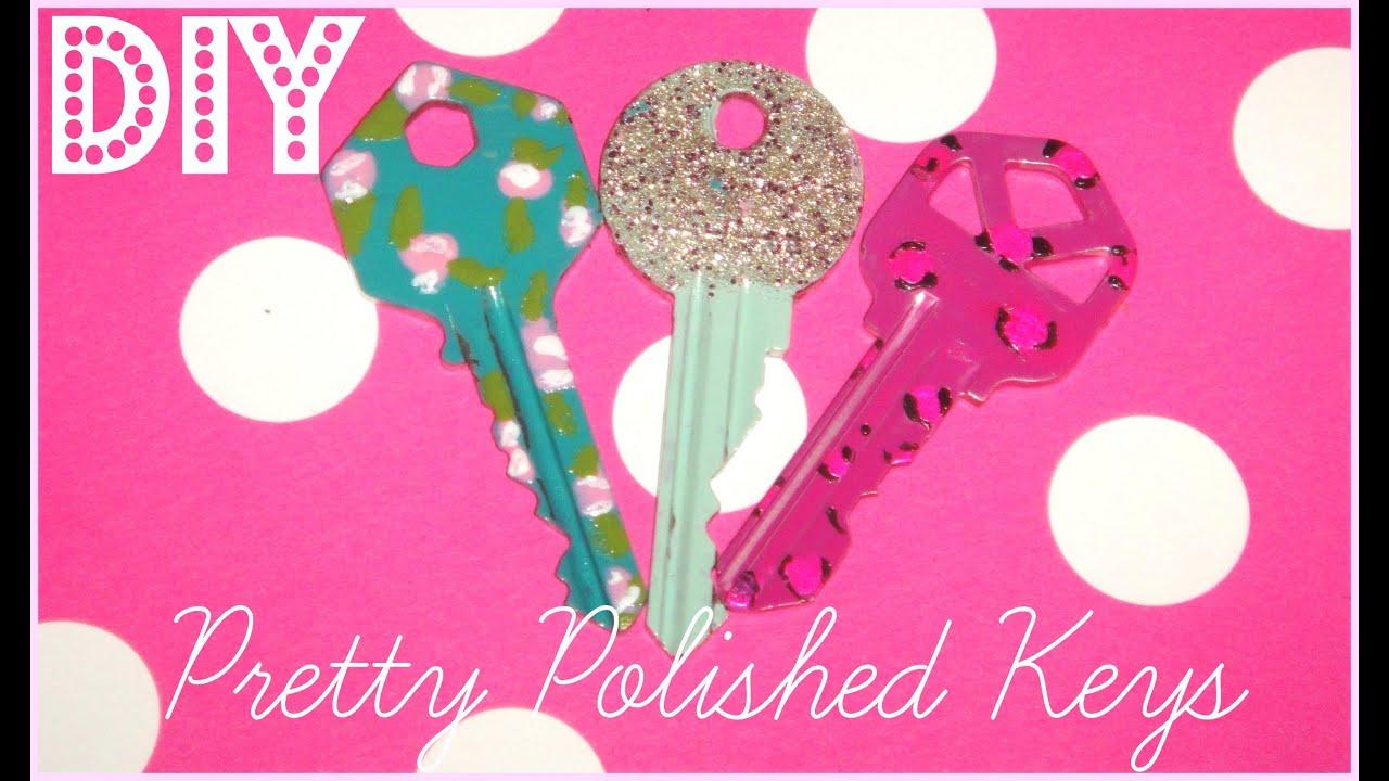 DIY Pretty Polished Keys ♥