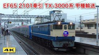 EF65-2101 TX-3000系 甲種輸送 2020.3.8【4K】