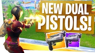 The NEW DUAL WIELD PISTOLS are SCARY! - Fortnite New Gun Patch 4.5 (Playground Mode Removed Temp)