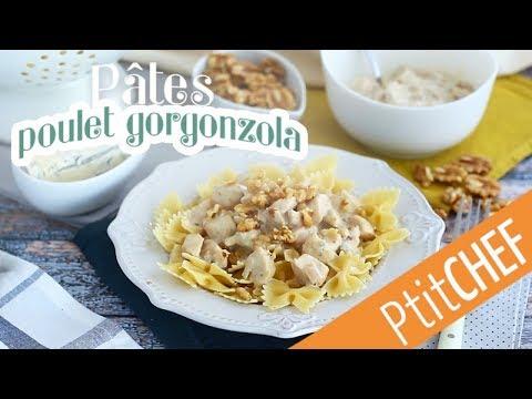 recette-de-pâtes-au-poulet-et-sauce-au-fromage-gorgonzola---ptitchef.com