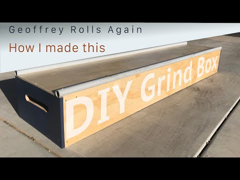DIY Grind Box.  How I Built This 8 Foot Mobile Grind Box.