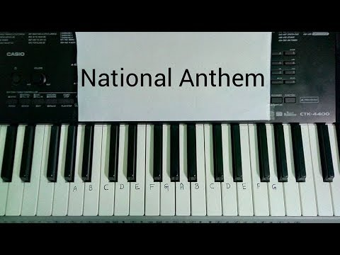 Jana Gana Mana National Anthem Slow Piano Keyboard Tutorial Youtube