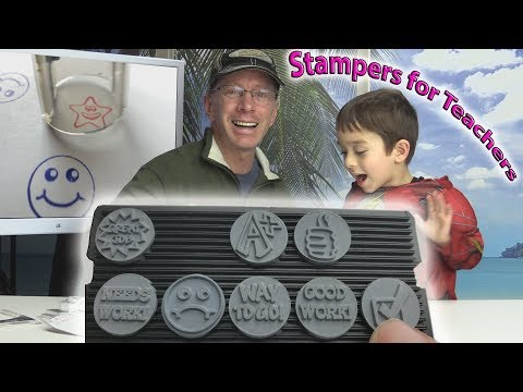 ExcelMark A17 Teacher Self-Inking Rubber Stamp Kit - Product Review