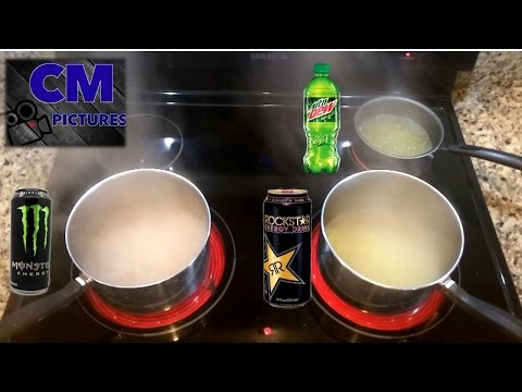 What Happens When You Boil Mountain Dew, Monster & Rockstar?