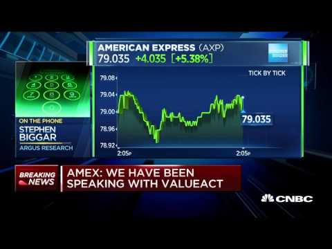 ValueAct taking stake in American Express  Rpt