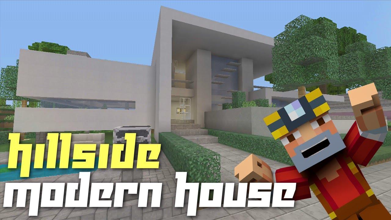 Minecraft Xbox 360 Hillside Modern House Tour YouTube