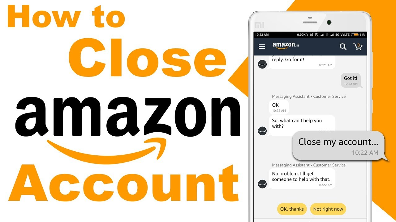 How To Delete Amazon Account Permanently using Android