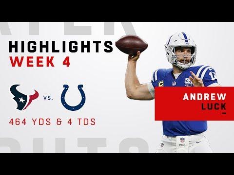 Andrew Luck EXPLODES for 464 Yards & 4 TDs vs. Houston