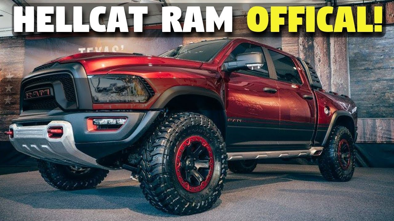 Ram 1500 Rebel Trx >> BEASTLY Ram Rebel TRX w/ Hellcat Engine *CONFIRMED! (2022 Release) - YouTube