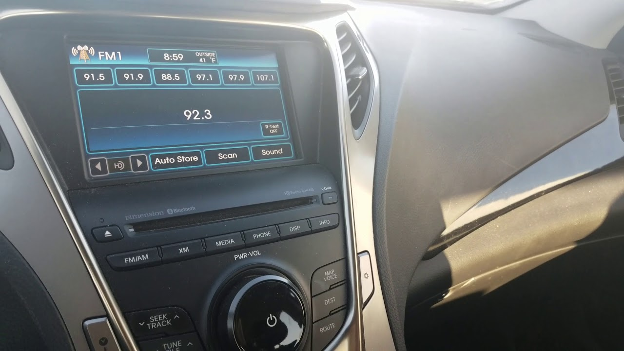 Hyundai Azera Elanta Sonata Radio No Sound Audio Fix