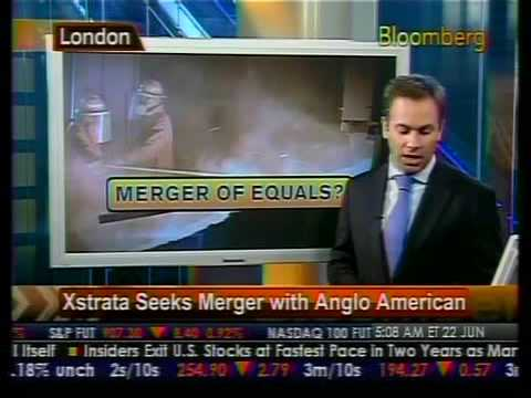 Xstrate Seeks Merger With Anglo American - Bloomberg
