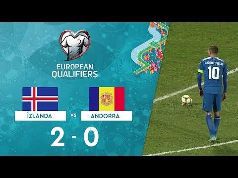 İzlanda 2-0 Andorra | EURO 2020 Elemeleri Maç Özeti - H Grubu