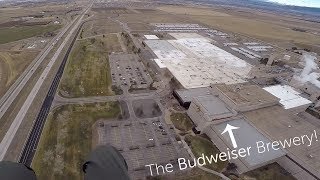 Flying over WWVB and Budweiser Brewery