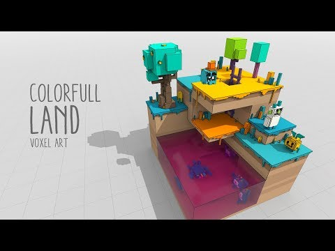 Colorfull Land - Voxel Art