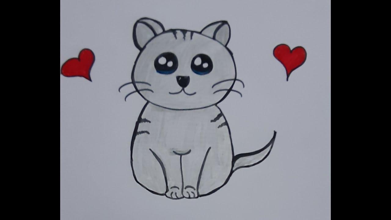 Kedi nasıl çizilir (kolay çizimler)