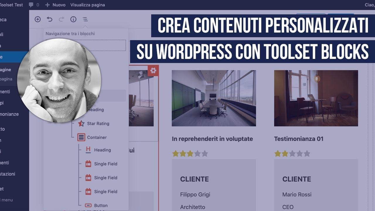 Toolset Blocks: come usarlo per creare contenuti personalizzati