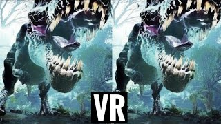 dinosaur VR VIDEO 3D Split Screen for Virtual Reality VR BOX 3D SBS not 360 VR