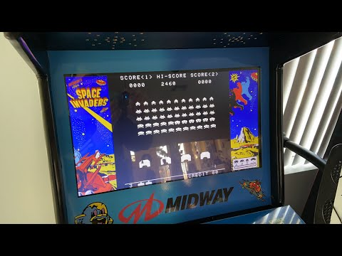 Space Invaders Alien Arcade Game Men/'s T Shirt Opening Screen Hi-Score Taito Top