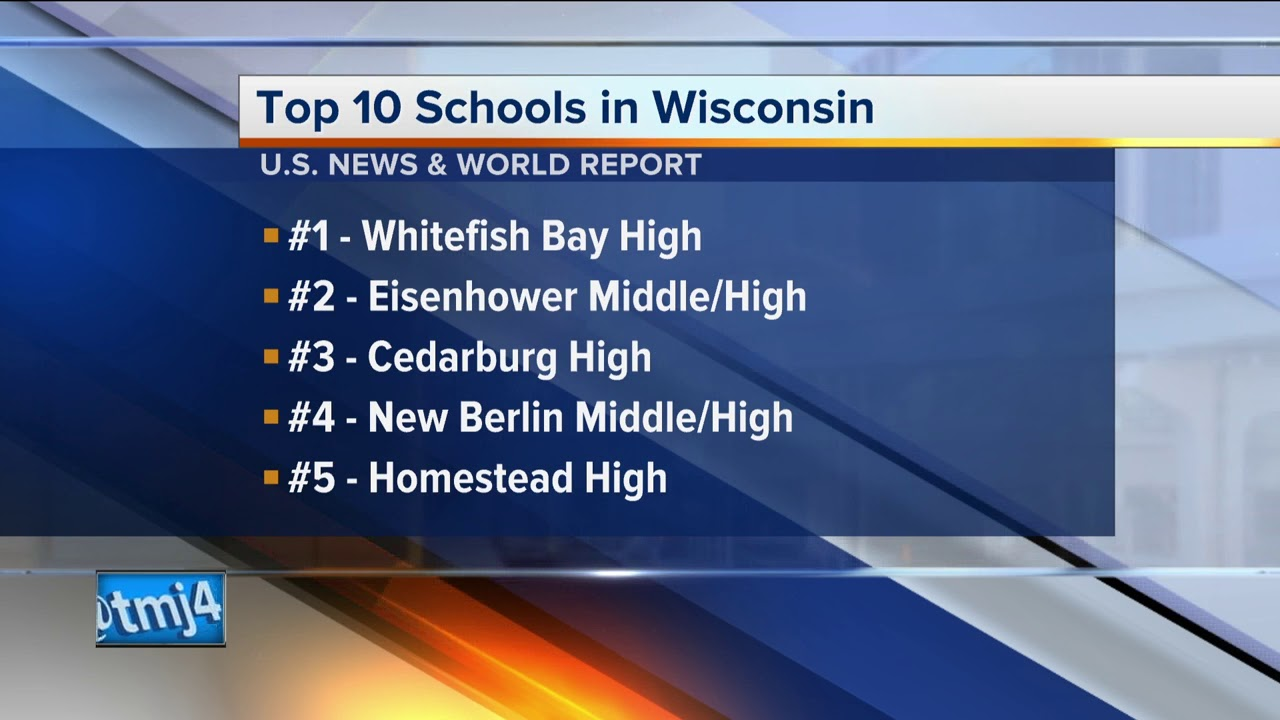 U.S. news ranks top 10 area high schools