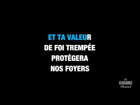 """O Canada (French) in the Style of """"Traditional"""" karaoke video with lyrics (no lead vocal)"""