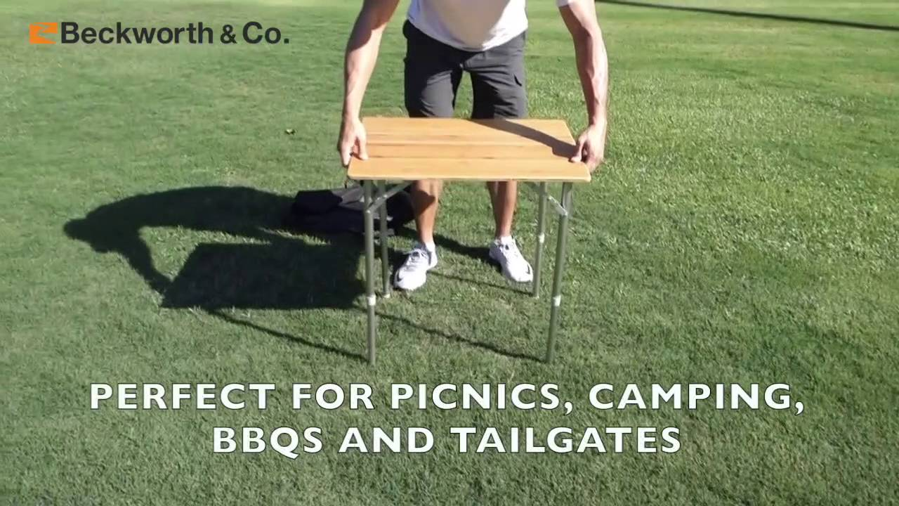 SmartFlip Bamboo Picnic Table By Beckworth And Co.