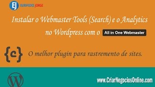 Instalar o Webmaster Tools (Search) e o Analytics no Wordpress com o All in One Webmaster Mp3