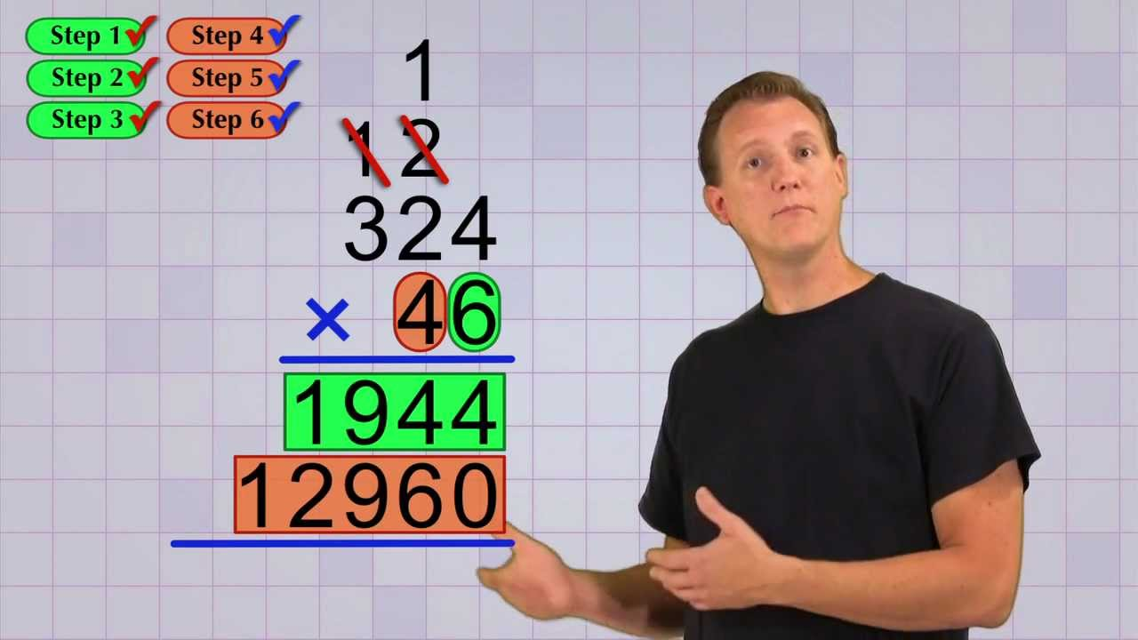 hight resolution of Math Antics - Multi-Digit Multiplication Pt 2 - YouTube