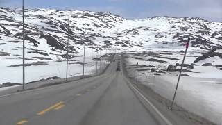 Norwegian Spring Trip - Haukeli - Mountain car driving road EV134 - Spring 2017