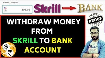 How to Withdraw Money from Skrill to Bank Account within 2 min   skrill withdrawal fees