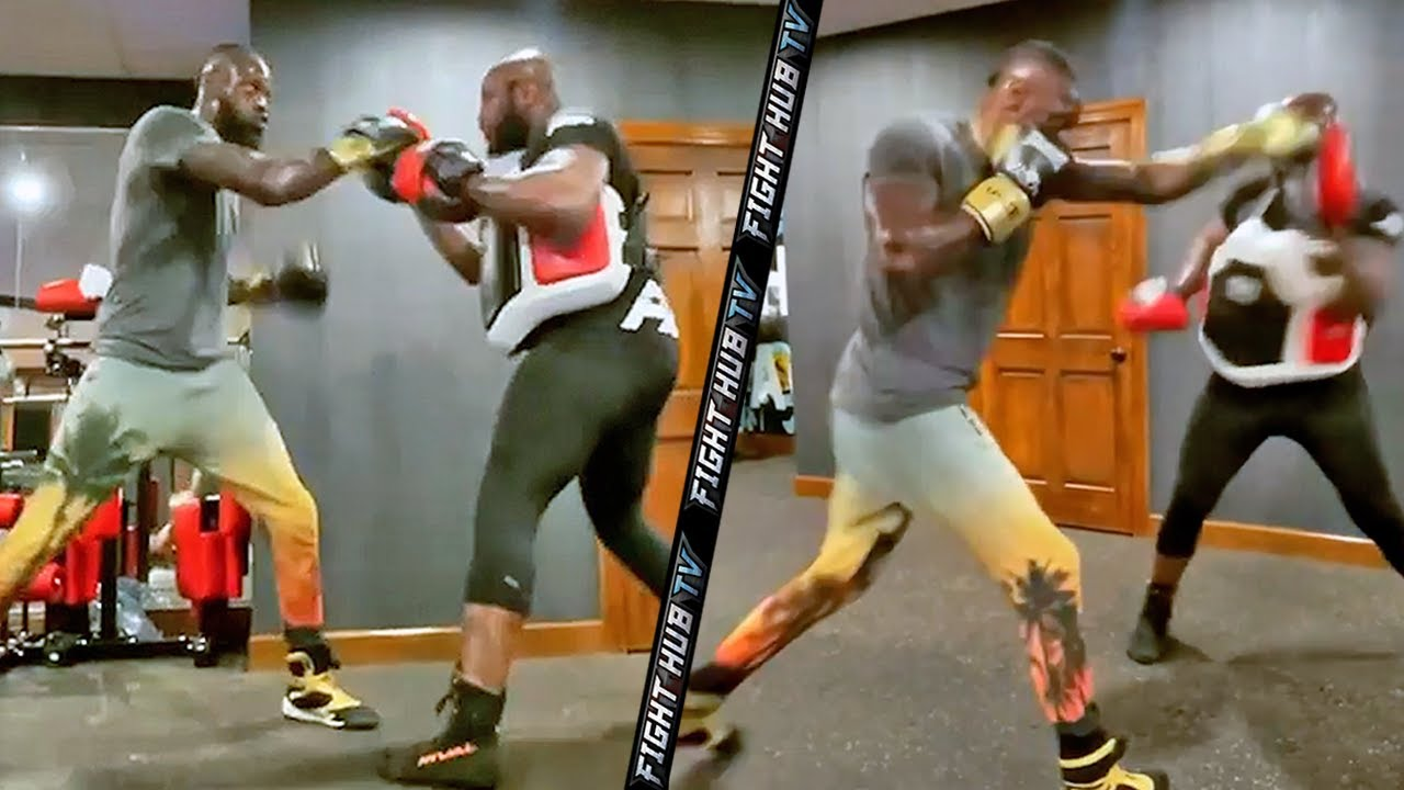 NEW LEAK - DEONTAY WILDER BATTERS MITTS; SHOWS IMPROVEMENTS & POWER TRAINING FOR RETURN TO RING