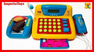Toy Cash Register & Scanner Set For Kids Electronic Toy SUPERMARKET With Microphone