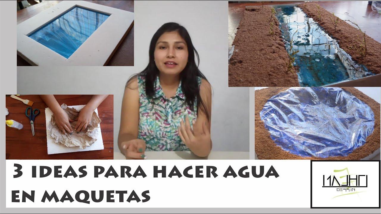 3 ideas para hacer agua en maquetas trazosdeensue o youtube for Materiales para construir una alberca