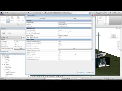 Autodesk Building Element Energy Analysis in Revit