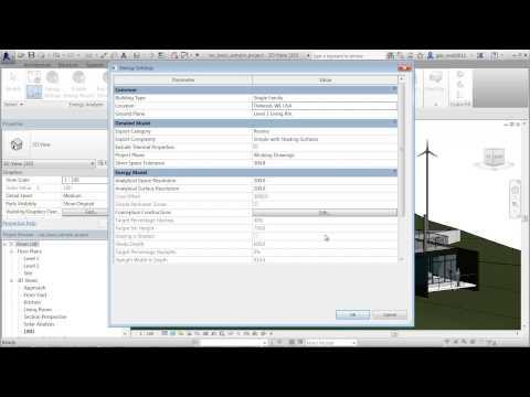 Autodesk Building Element Energy Analysis in Revit