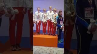 Ceremonia wręczania medali: Hołub i sztafeta 4x400 m