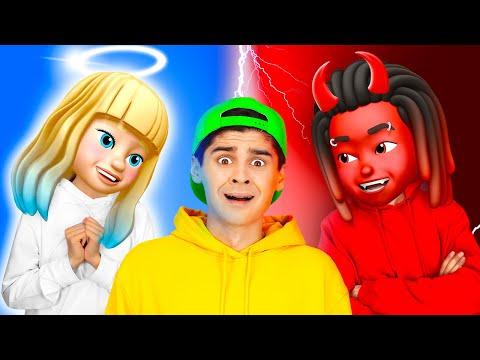 يا الهي! الملاك والشيطان يسيطران علي || الخير مقابل الشر! مقالب مضحكة