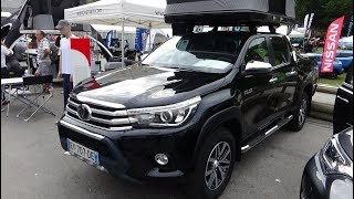 2018 Toyota Hilux Double Cabin 4x4 Roof Tent - Exterior and Interior - Foire 4x4 Valloire 2018