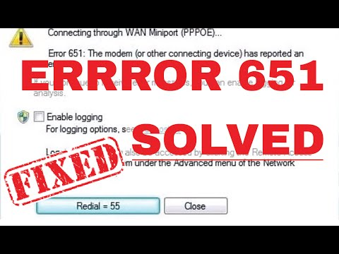 How to Fix Error 651 in Windows and Broadband Connection